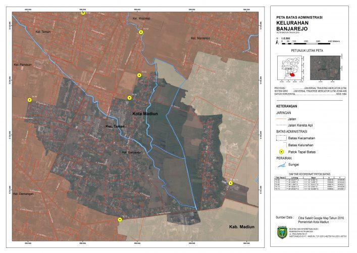 Peta Batas Administrasi Kelurahan Banjarejo