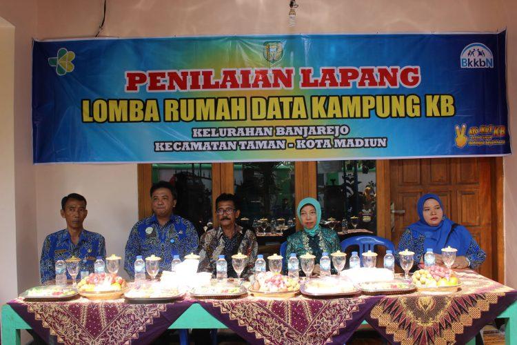 Penilaian Lapang LOMBA RUMAH DATA KAMPUNG KB Kelurahan Banjarejo Kecamatan Taman Kota Madiun